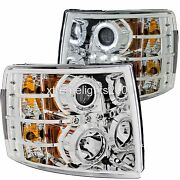 Forest River Legacy 2013 2014 Chrome Led Head Lights Lamps Headlights Rv Pair