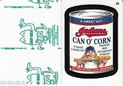 2016 Wacky Packages Major League Baseball Green Ludlow 23 Indians Can O Corn