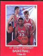 1984/1985 Ncaa Basketball St. Johnand039s Yearbook With Chris Mullin Cover Exmt+
