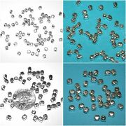Wholesale Lots Cube Beads 2mm, 2.5mm, 3mm, 4mm, Genuine 925 Sterling Silver