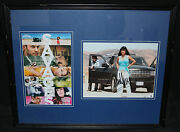 Salma Hayek Autographed Photo Framed And Matted With Small Movie Poster