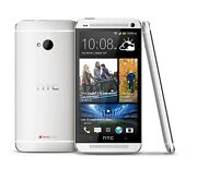Htc One M7 - Silverstraight Talkc Cell Phone Page Plus Htc6500lvw Very Good