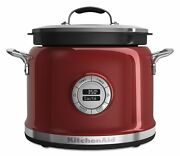 Kitchenaid Multi-cooker Kmc4241ca 4-qt All-in-one Cooking System Candy Apple Red