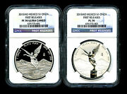 2015 Mexico Silver Onza Libertad Ngc Pf70 Ucam And Reverse Proof Pl70 2-coin First