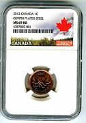 2012 Canada Cent Ngc Ms69 Magnetic Steel Last Year Canada Label Extremely Rare