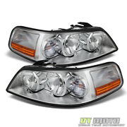 2005-2011 Lincoln Town Car Headlights Headlamps Replacement 05-11 Set Left+right
