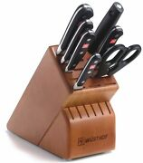 Wusthof Classic 8 Piece Deluxe Block Knife Set With Cherry Block New 8408-2