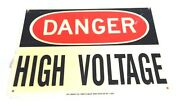 Lot Of 10 Brady 4t665 Danger High Voltage Signs 47005 10 X 14