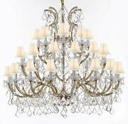 Chandelier Crystal Lighting Empress Crystal Tm Chandeliers With White Shades