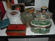 Vintage Collection Advertising Tins Boxes Harley Coca Cola Pepsi Fossil Cigar