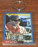 Nascar 1997 Winston Cup Champion Jeff Gordon Collectible Card With Keychain Ring