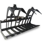 Titan Attachments 72 Root Grapple Rake For Kubota And Bobcat Skid Steers