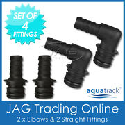 Set Of 4 Hose Tail Quick-connect Plug-in Fittings - For 12v Water Pressure Pump