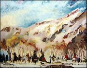 Earl Biss Red Lodge With The Melting Of The Spring Snow Limited Ed Silkscreen