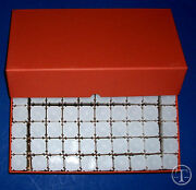 50 Quarter Size Square Coin Tubes In Heavy Duty Storage Box- Coin Safe