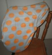 Horse Saddle Cover Grey And Orange Dots + Free Embroidery Aussie Made Protection