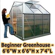 Greenhouse - 6and0396 W X 6and0396 H X 7and0394 L - Beginners Kit - Backyard - Commercial