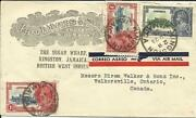 Jamaica Sg114x2116 Silver Jubilee Illustrated Adv Airmail To Canada