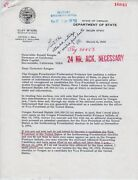 1968 Rare Signed Letter Ronald Reagan Rejecting Vice Presidential Bid
