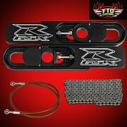2011-2021 Gsxr 600 750 Swingarm Extensions Chain And Red Brake Line