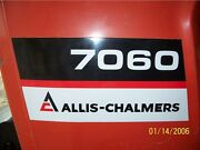 Allis Chalmers Tractor 7000 7010 7020 7030 7045 7060 7080 7085 Hood Decal Set