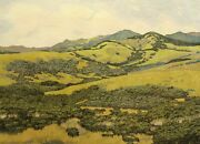 Gordon Mortensen Near San Simeon Hand Signed Color Woodcut Art Print 1977 Obo