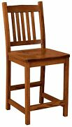 Amish Logan 24 Stationary Counter Height Bar Stool Rustic Mission Cabin Set 3