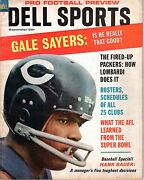 1967 Dell Sports Pro Football Preview Magazine Gale Sayers Chicago Bears Good