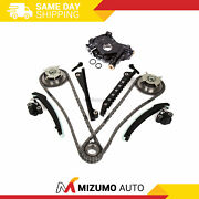 Timing Chain Kit Cam Phaser Oil Pump Fit 04-10 Ford F150 5.4 3-valve Triton
