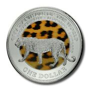Fiji Great Animals Of The World Leopard 1 2009 Bu Color Crown