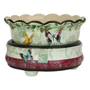 Butterfly Design Ceramic Electric Scented Oil Tart Candle Burner Warmer Lamp 337