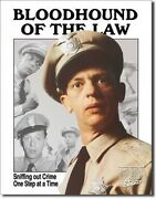 Vintage Replica Tin Metal Sign Andy Griffith Show Barney Bloodhound Law Cop 1041
