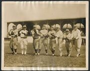 1924 Hack Wilson Pre-rookie Card Photo, And Ross Youngs Vintage Baseball Photo