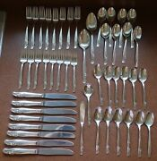 Rogers And Bros. Is Silverplate Flatware Exquisite 1957 48pc Set