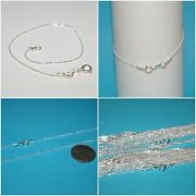 Wholesale Lots 925 Sterling Silver 1mm Dc Ball Chain Bracelets Anklets Necklaces
