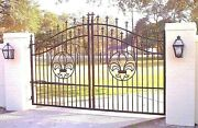 Custom Driveway Gate 12 Foot Wide Ss Incl Post Pkg And Gate Operator Residential