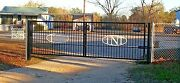 Ornamental Iron Steel Driveway Entry Gate 16 Ft Wide Ds Residential And Commercial
