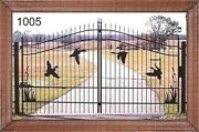 Veteran Discount On Sale Driveway Gate 11and039 Or 12and039 Wd Inc Post Pkg Home Security