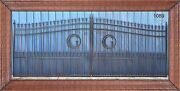 Custom Built Iron Driveway Entry Gate 16 Ft Wide Dual. Residential Security