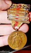 3rd Corps Wwi Pennant And Medal Set And Unit Panorama Photo Ralph Sproul Saginaw Mi