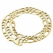 Mens Real 10k Yellow Gold Figaro Chain 8mm Necklace High Polished 20-30 Inch