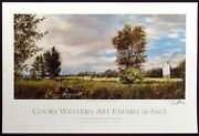 Don Stinson Hand Signed Poster From Coors Western Art Exhibit 2012 Nw Stock Show