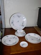 Gda Limoges From France Sold By Nathan-dohrman And Co.four 6-piece Place Settings