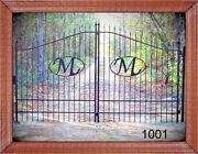 Veteran Discount Inc Post Pkg Driveway Gate 11and039 Or 12and039 Wide Steel Home Security