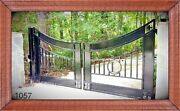 Wrought Iron Driveway Gate 12' Wd Ds Home Security Yard