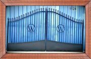 Driveway Gate 1124 14andrsquo Ft Wd Ds Inc Post Package Steel / Iron Home Security