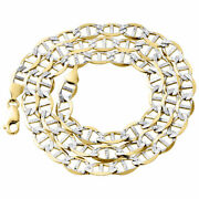 Real 10k Yellow Gold Diamond Cut Solid Mariner Chain 7.50mm Necklace 22-30 Inch