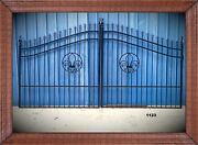 Wrought Iron Style Driveway Gate 12 Ft Wide Steel Incl Post Package Residential