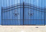 Steel - Iron Driveway Entry Gate 12and039 Ds Incl Post Package Residential Security