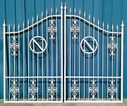 Wrought Iron Style Steel Driveway Gate 10 Ft Wd Dual Residential Home Security